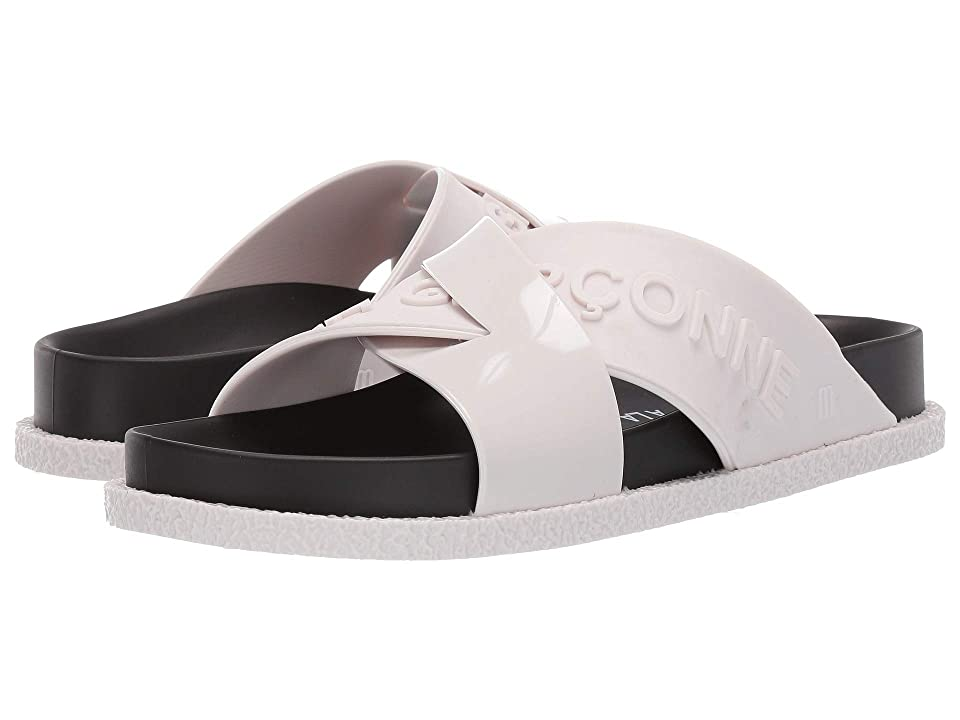 + Melissa Luxury Shoes A La Garconne + Energy Slide Sandal (White) Women