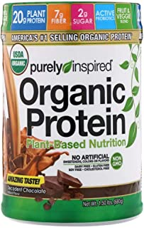 Purely Inspired Organic Protein Plant Based Nutrition Decadent Chocolate - 680 g