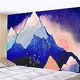WERT Kreative Mode Mandala Muster Tapisserie Wandbehänge psychedelische Decke Strand Tagesdecke Hintergr& Stoff A8 150x200cm