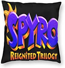 LYLBAC Not Spyro Reignited Trilogy Pillowcase Zippered Throw Pillow Cover Soft Cotton Comfortable Picture Printed Custom26x26Inch(66cmx66cm)