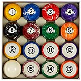 Collapsar Deluxe 2-1/4 Inch Reulation Billiard Balls Pool Ball Marble-Swirl Style Complete 16 Billiard Ball...