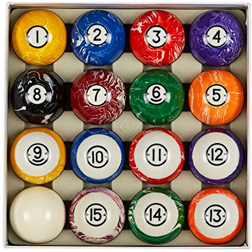 Collapsar Deluxe 2-1/4 Inch Reulation Billiard Balls Pool Ball Marble-Swirl Style Complete...