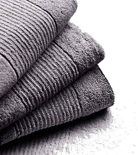 N & K bielefelder Parure : très absorbant Petit serviette essuie-mains 30 x 30 (Lot de 6) – Anthracite uni