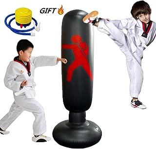 xingxinqi Kids Inflatable Punching Bag 160cm Training Bag Kickboxing Bag Inflatable Free-Standing Fitness Boxing Bag