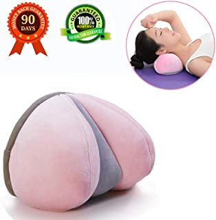 KASQA Cervical Pillow Neck and Shoulder Relaxer - Neck Traction Device for Stiff Neck and Shoulder Pain Relief - Neck Support Pillow Pink