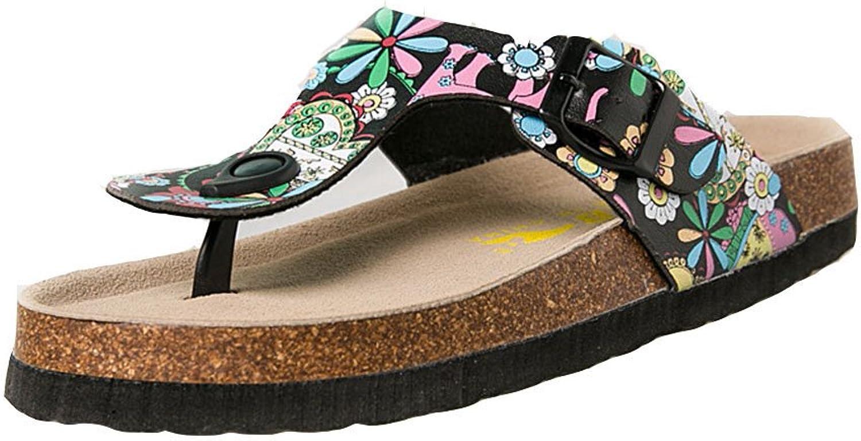 T-JULY Women Beach Sequins Slippers Anti-Skid Flip Flops Summer Lightweight Sandals