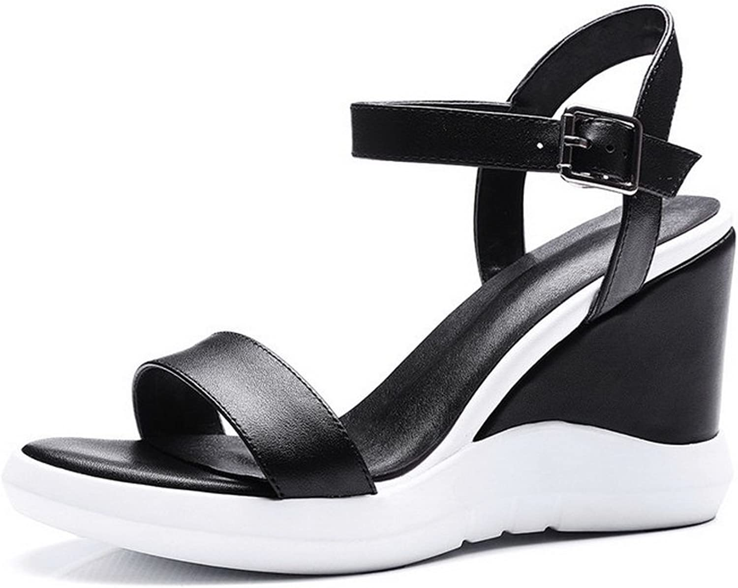 1TO9 Womens Wedges Platform Buckle Pleather Platforms Sandals MJS02682