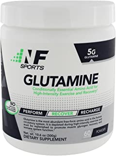 NF Sports Glutamine – Amino Acid for High Intensity Exercise & Recovery an All-Natural Research-Proven Form of Glutamine M...