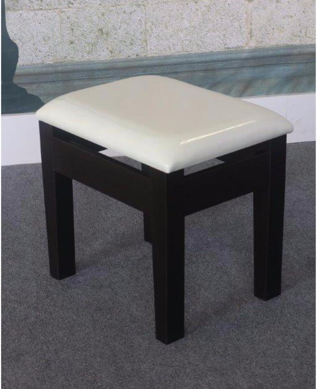 Benzara BM148713 Comforting Dressing Stool, White Black