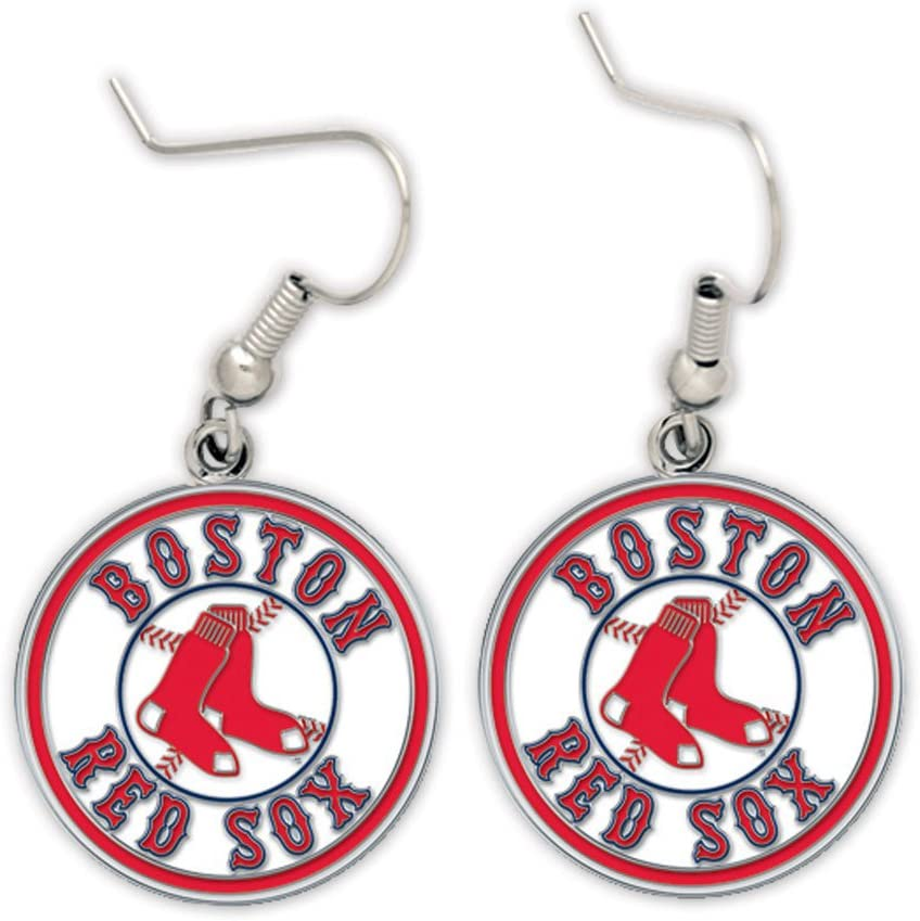 WinCraft MLB Los Angeles Mall Boston Red Sox 63431011 Jewelry Earrings Card Max 87% OFF