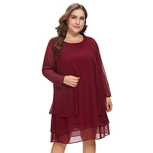 Dresses for Wedding Guest Plus Size: Amazon.co.uk