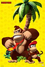 Pyramid America Donkey Kong and Diddy Kong Beating Chest Nintendo Cool Wall Decor Art Print Poster 12x18