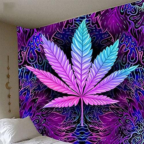 KHKJ Boho Decor Maple Leaf Impresión de Fondo Tapiz de Tela Decoración del hogar Fondo Adornos de Pared Tapiz Decoración Mural India A2 150x130cm