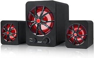 Goolrc Computer Speaker USB Wired Combination Speaker Colorful LED Bass Stereo Music Player Subwoofer Speaker for Desktop ...