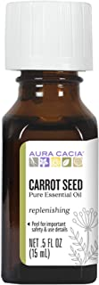Aura Cacia Carrot Seed Essential Oil | GC/MS Tested for Purity | 15ml (0.5 fl. oz.)