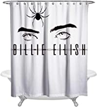 others Bad Guy_Billie_Eilish Family Bathroom Bath Curtains Waterproof Shower Curtains Sets with Hooks for Home Hotel