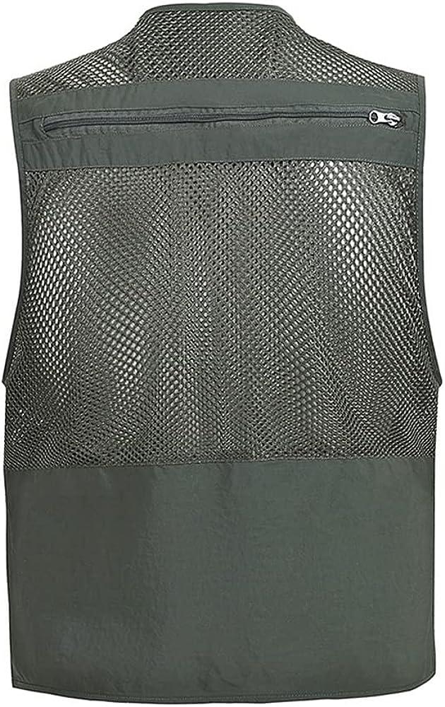 Men's Mesh Vest Spring And Autumn Thin Section Breathable Multi-Pocket Vest