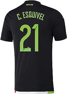 C. Esquivel #21 Mexico Home Soccer Jersey 2015