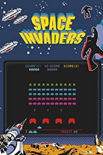 Pyramid America Space Invaders Play Screen Video Game Gaming Cool Wall Decor Art Print Poster 24x36