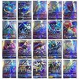 EMZOH 60 Cartas Pokémon, 60 GX Tarjetas de Pokémon Pokémon Card para niños, Pokémon Toy Card, Cartas Coleccionables, Trainer Cartas, el Mejor Regalo para Navidad, Cumpleaños y Aniversario