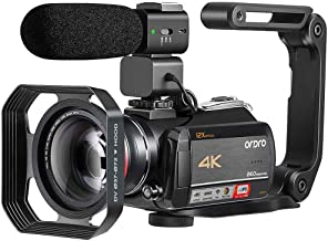 Camcorder 4K Video Camera ORDRO AC5 with 12x Optical Zoom 3.1'' IPS Touch Screen Ultra HD 1080P 60FPS Digital WiFi Camera Camcorders with Microphone Wide Angle Lens