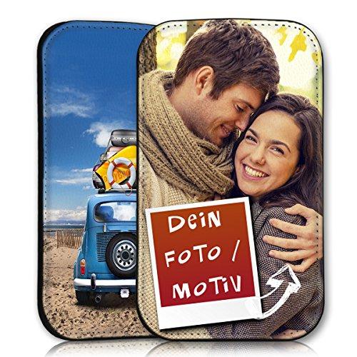 wicostar Sleeve Style Handy Tasche Hülle Schutz Hülle Schale Motiv Etui personalisiert für LG Bello/Bello 2 - Sleeve UBSDD Eigenes Motiv