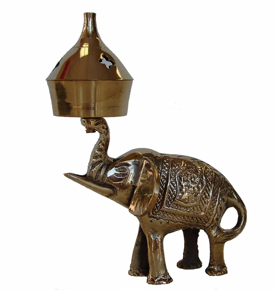 Feng Shui Import Brass Incense Oil Burner with Elephant