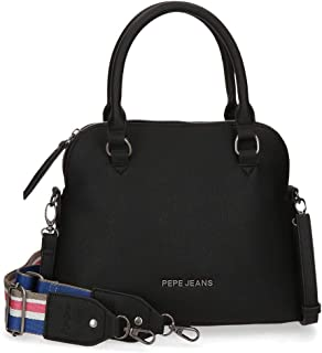 Pepe Jeans Eva Bolso Negro 27x22x12 cms Piel Sintética