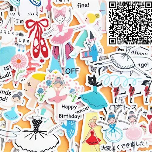 BLOUR 40 Stück Studenten tanzen jeden Tag Cartoon Aufkleber fürTelefon Dekorative wasserdichte Aufkleber Scrapbooking für Laptop Kinder