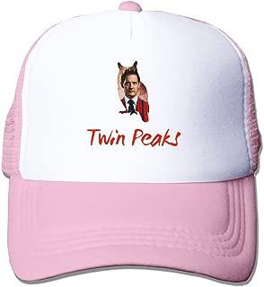 MZONE Casual Mesh Hats Caps Twin Peaks Cast Logo Summer Visor Cap Black