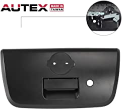 AUTEX 81575 Tailgate Handle with Bezel Keyhole Lift Gate Rear Latch Textured Black Compatible with Nissan Frontier 2001 2002 2003 2004 Tailgate Handle 906068Z400 NI1915102