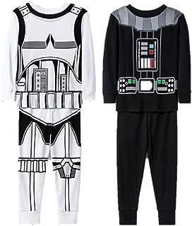 4pc Cotton Pajamas Boys Toddler Darth Vader Storm Trooper Pajamas