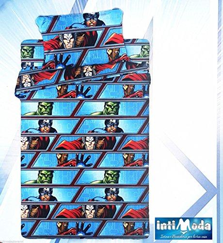 Marvel Completo COPRILETTO Lenzuola Avengers Assemble Singolo Cotone sopra+sotto+Federa