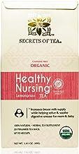 Secrets Of Tea Healthy Nursing tea - Lactation Tea - 20 Sachet USDA Organic - Lemon Grass Flavor.