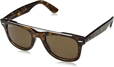 RAY-BAN RB4540 Wayfarer Double Bridge Sunglasses, Havana/Polarized Crystal Brown, 50 mm
