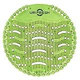 Uri-Fresh 4 Stück Urinalsieb mit 4 Paar Einmalhandschuhe und Wechselindikator - Duft Grüner Apfel