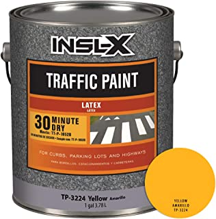 INSL-X TP322409A-01 Acrylic Latex Traffic Paint, 1 Gallon, Yellow