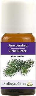 Maitreya Natura Ätherisches Öl biologisch ZIRBELKIEFER, 100% naturrein, 10ml - Aromatherapie, Diffusor, Massage, Kosmetik - kontrollierte und zertifizierte Qualität, cruelty free, vegan