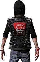 Outfitter Jackets Watch Dogs 2 Dedsec Wrench Vest – Shawn Baichoo Black Faux Leather Vest (L, Black)