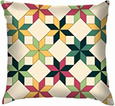 Quilt Cotton Throw Pillow Case Cushion Cover Home Office Decorative, Square 22X22 Inch