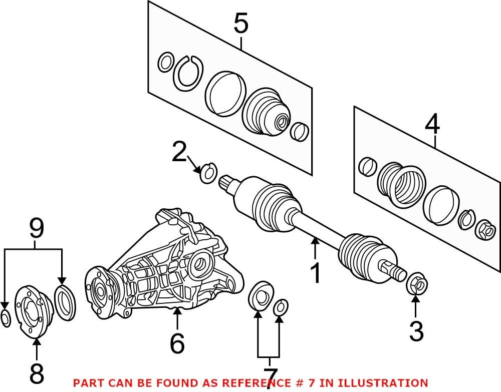 Genuine OEM CV Axle Shaft for 1639970246 Seal safety Limited price Mercedes