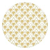 Papier peint rond autocollant Golden Glitter Look With Art Deco Pattern 225×225cm