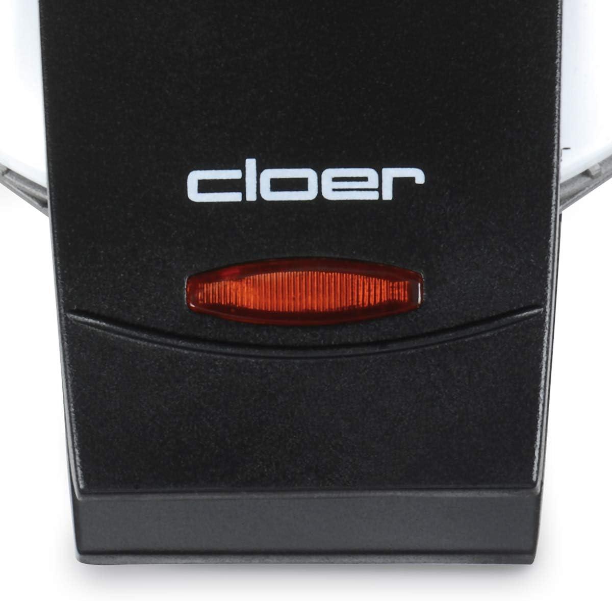 Cloer 1621 Machine à Gaufres Automatique Blanc Blanc