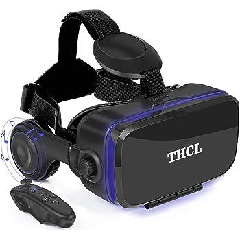 VR ゴーグル VRヘッドセット 「2020新型」 アンチブルーレンズ 3D ゲーム 映画 動画 4.7~6.2インチの iPhone Android などのスマホ対応 ワンクリック受話 Bluetoothリモコン&日本語取扱説明書付属