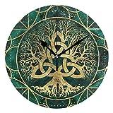 Butty Reloj de Pared Redondo con Estampado de Turquesa Vikingo Celta, Reloj silencioso sin tictac, Decorativo para la Sala de Estar de la Oficina, Dormitorio