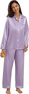 Brushed Back Satin Pajamas - Misses, Womens