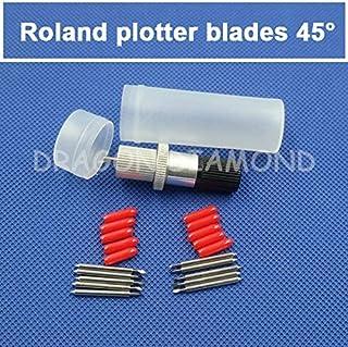 Xucus 1pcs Roland blade holder and 10pcs 45degree Roland cutter blade Roland plotter blades