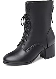 BalaMasa Womens ABS14013 Patent-Leather Boots