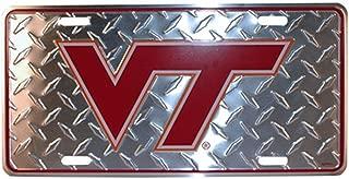 NCAA Virginia Tech Hokies Diamond Plate Car Tag
