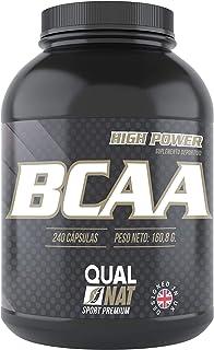 BCAA con Vitaminas B2 B6 | Quema Grasas | Suplemento Deportivo | 240 Cápsulas- Qualnat